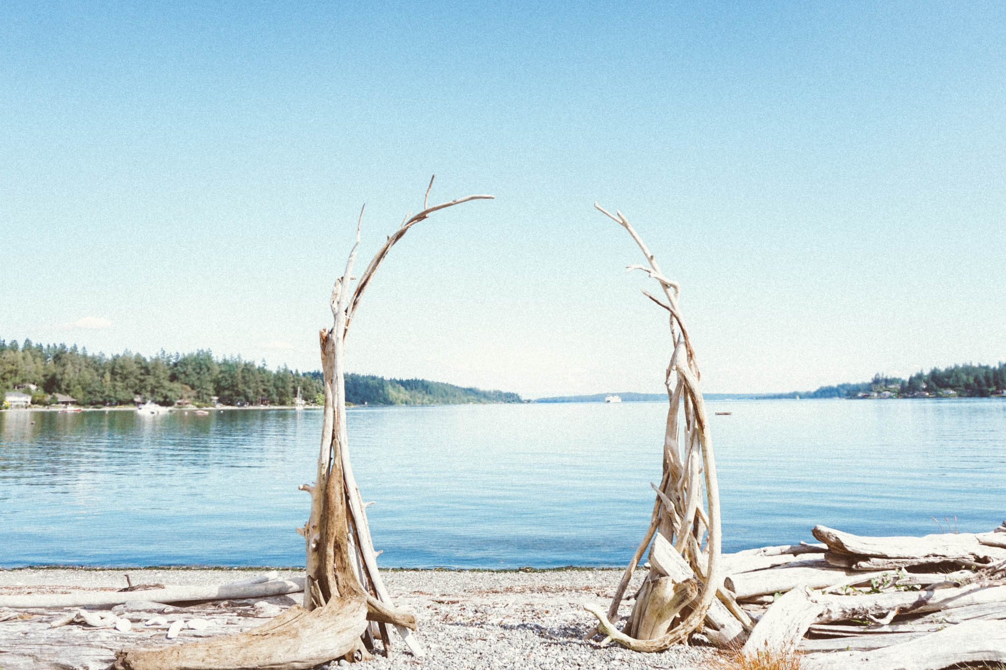 Driftwood Wedding Arbor by Ondine