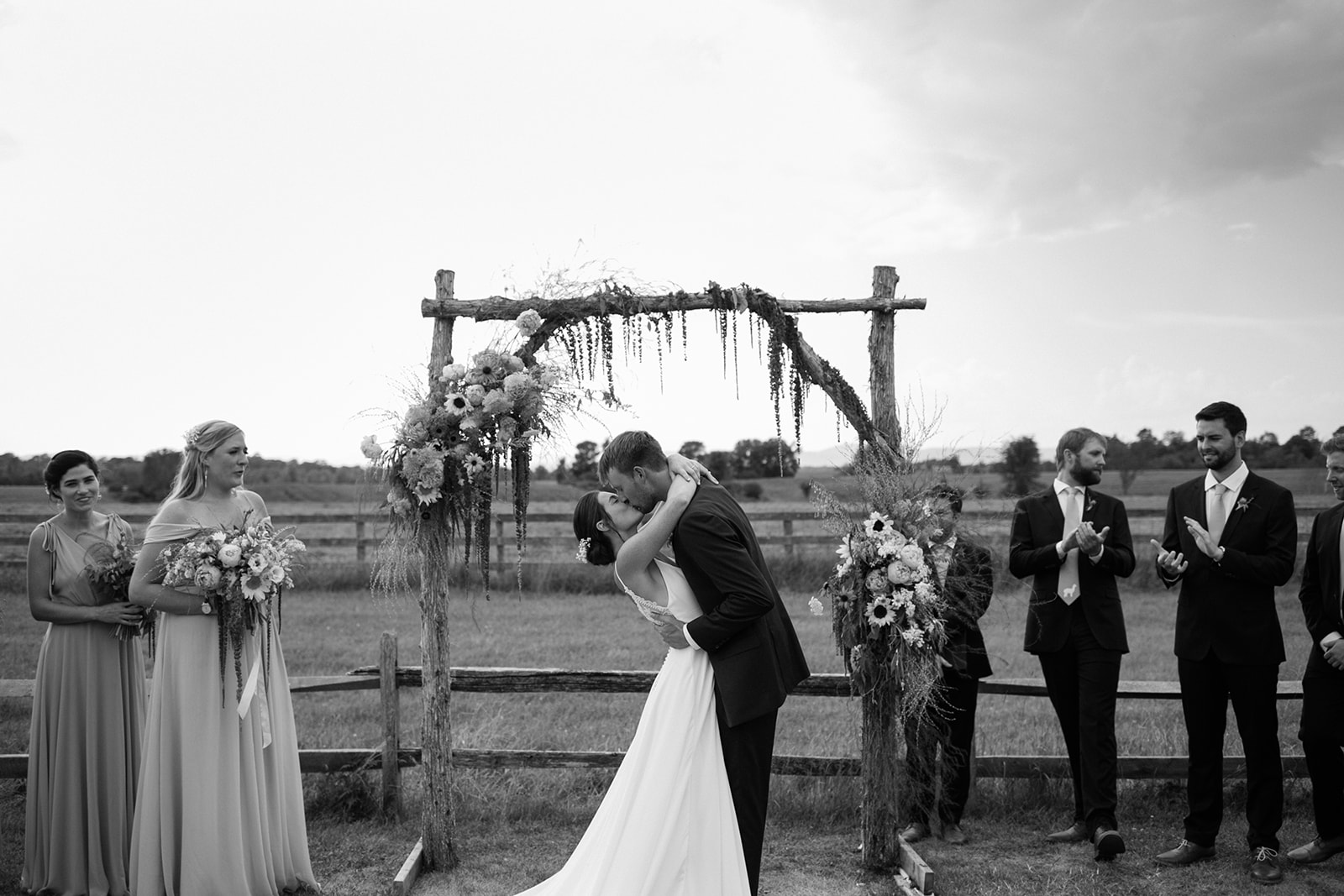 Aside from a couple Riverside Farm photos all the imagery was taken by the talented   Two of Us Photography   .    Venue:  The Vermont Wedding Barn   Coordination:  Carly Irion   Catering:  Woodbelly Pizza   Cake:  Madelyn Emers   Band:  Chris Jacobs + Friends