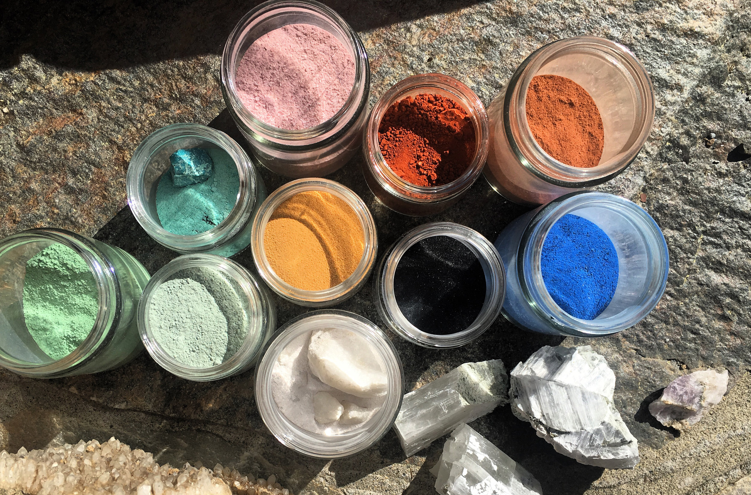 The process - The process of making rocks and minerals into pigments
