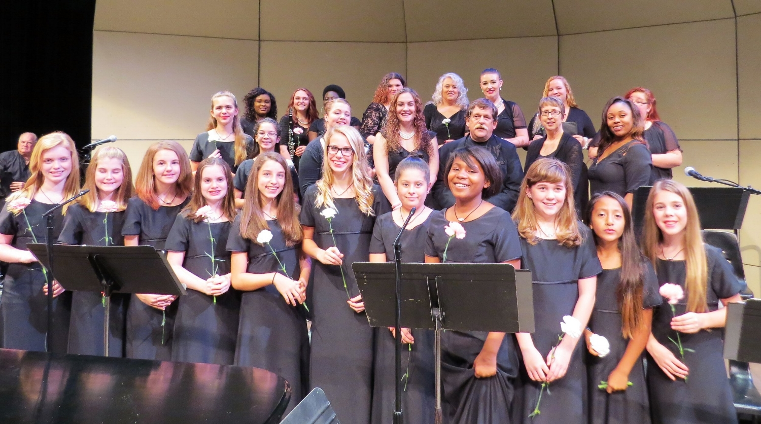 Girls chorus performs with the music department at Lake Sumter State College.