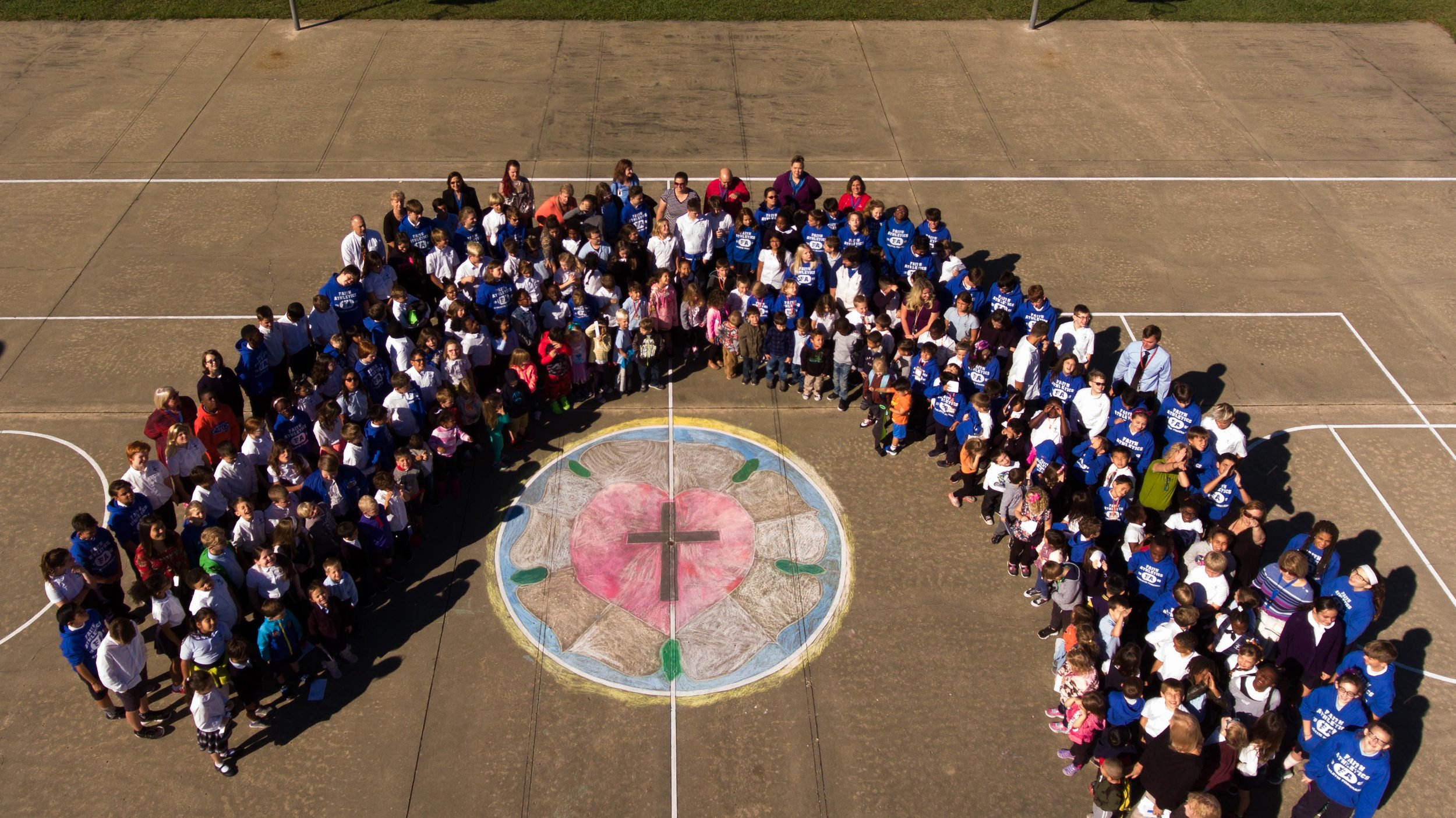 Students gather for an all-school picture after celebrating the 500th anniversary of the Reformation!