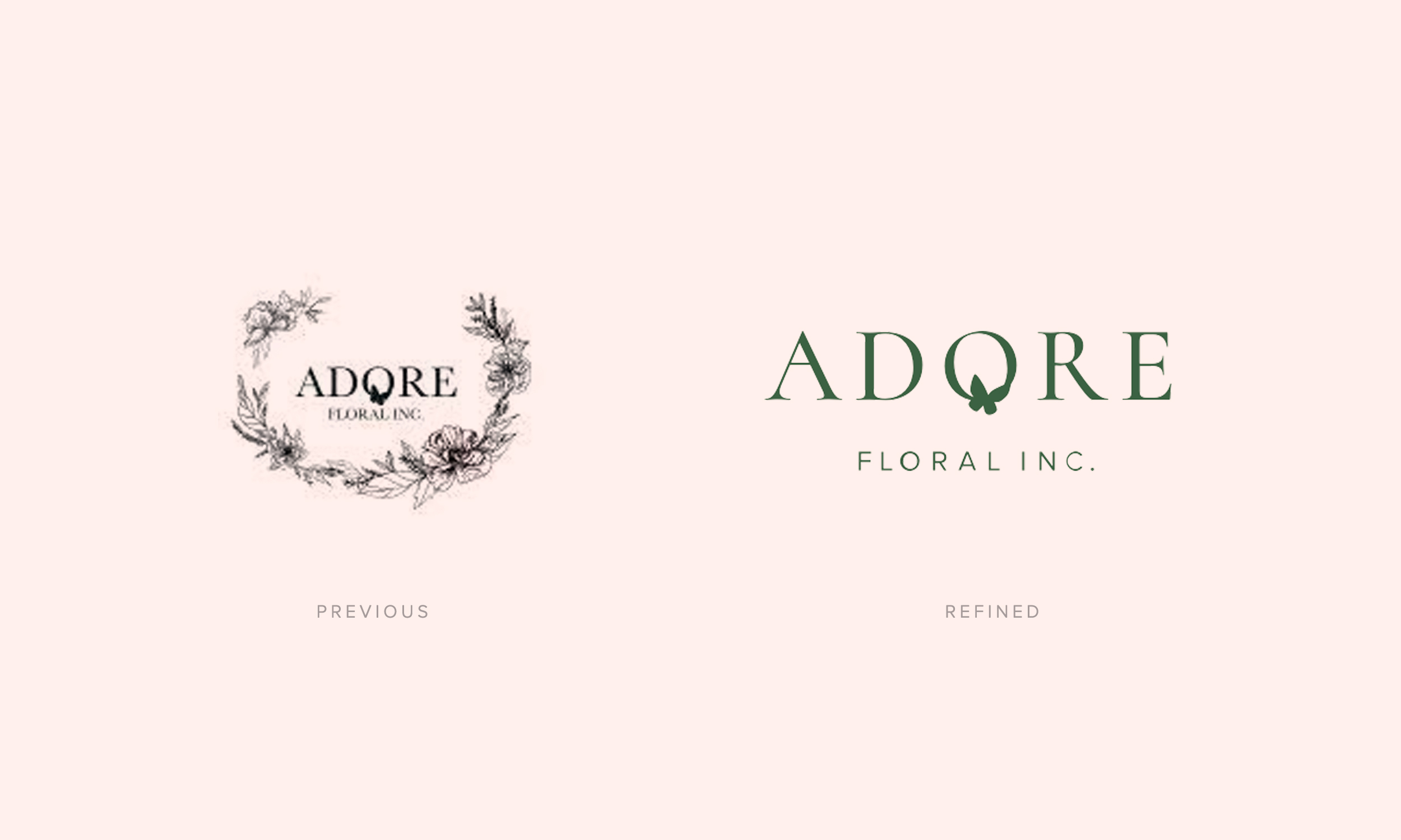 Adore Floral brand identity by Shoppe Theory.