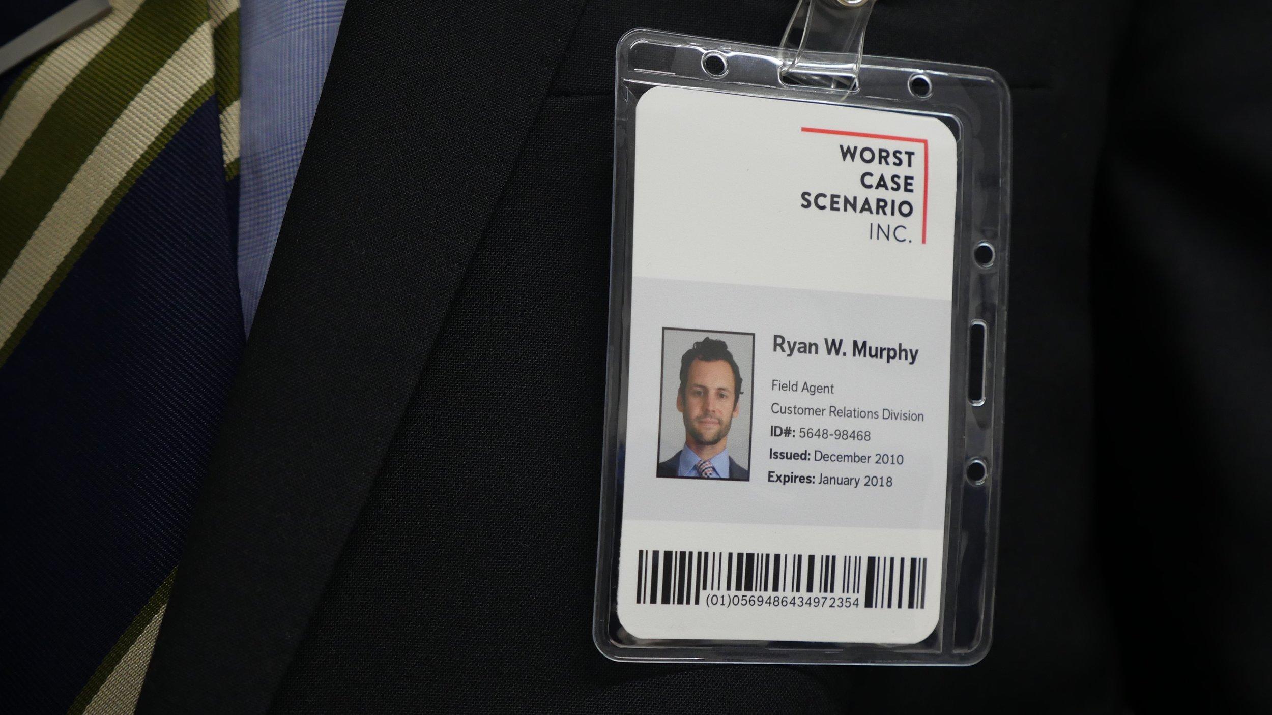Ryan's office ID badge.