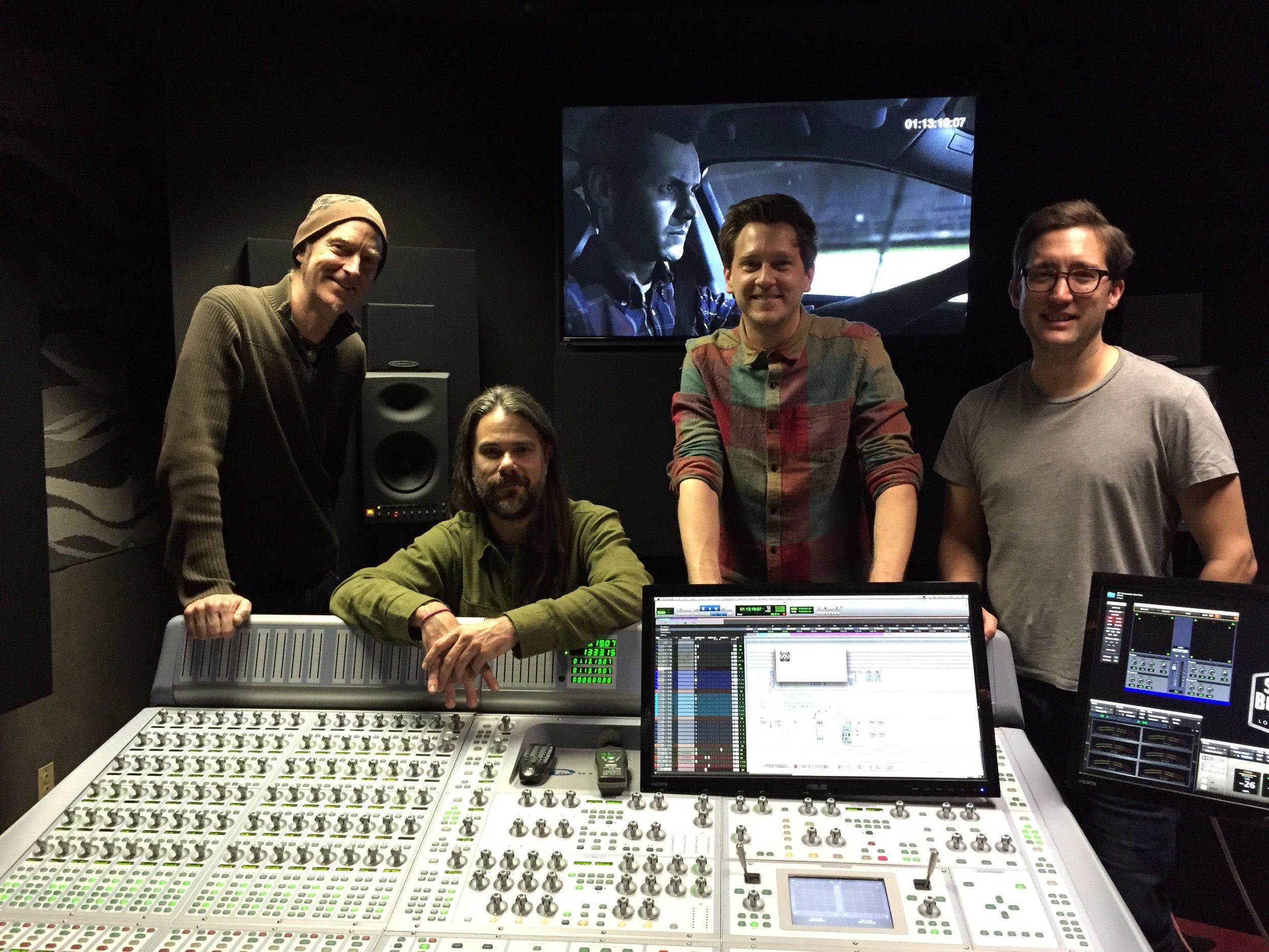 Composer Craig Richey, sound designers Ken Cain & Brett Bach, and Gareth at Sound Brigade for the final music mix.