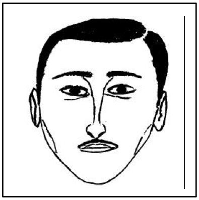 Composite drawing of menacing man.