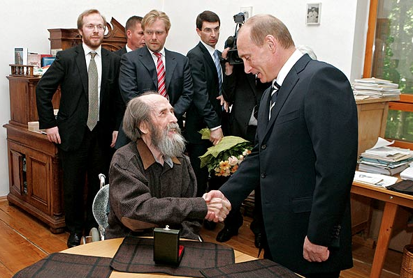 Nobel winner Solzhenitzyn and Putin were mutual admirers.