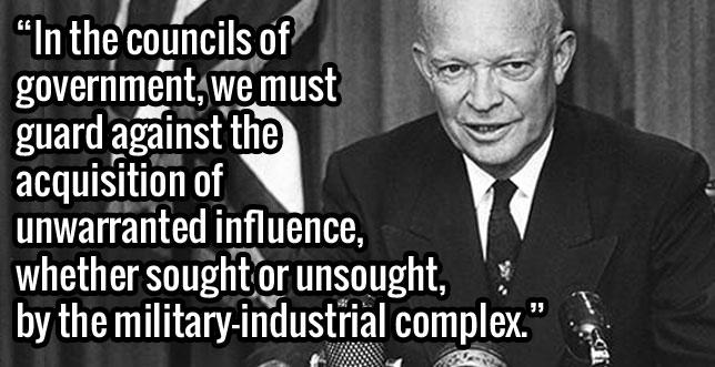 """Dwight """"Ike"""" Eisenhower's farewell speech."""