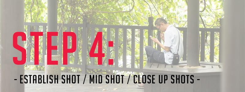 Step 4: The 3 essential shot sizes