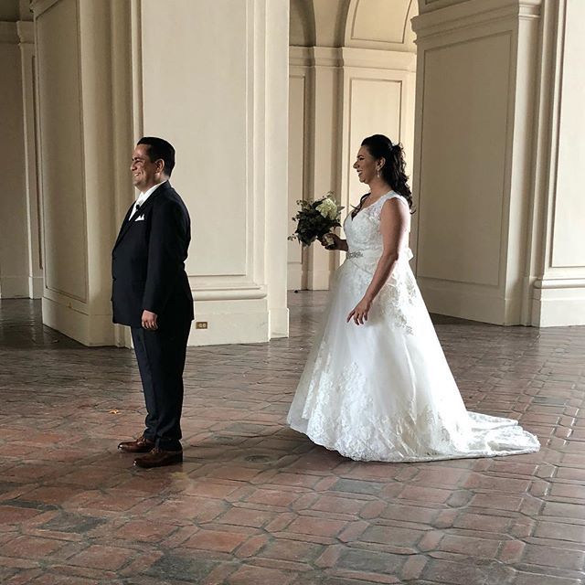 First Look!! Best moment of the day!!! #meridianevents #pasadena cityhall #socalweddings #specialmoments #weddingmoments