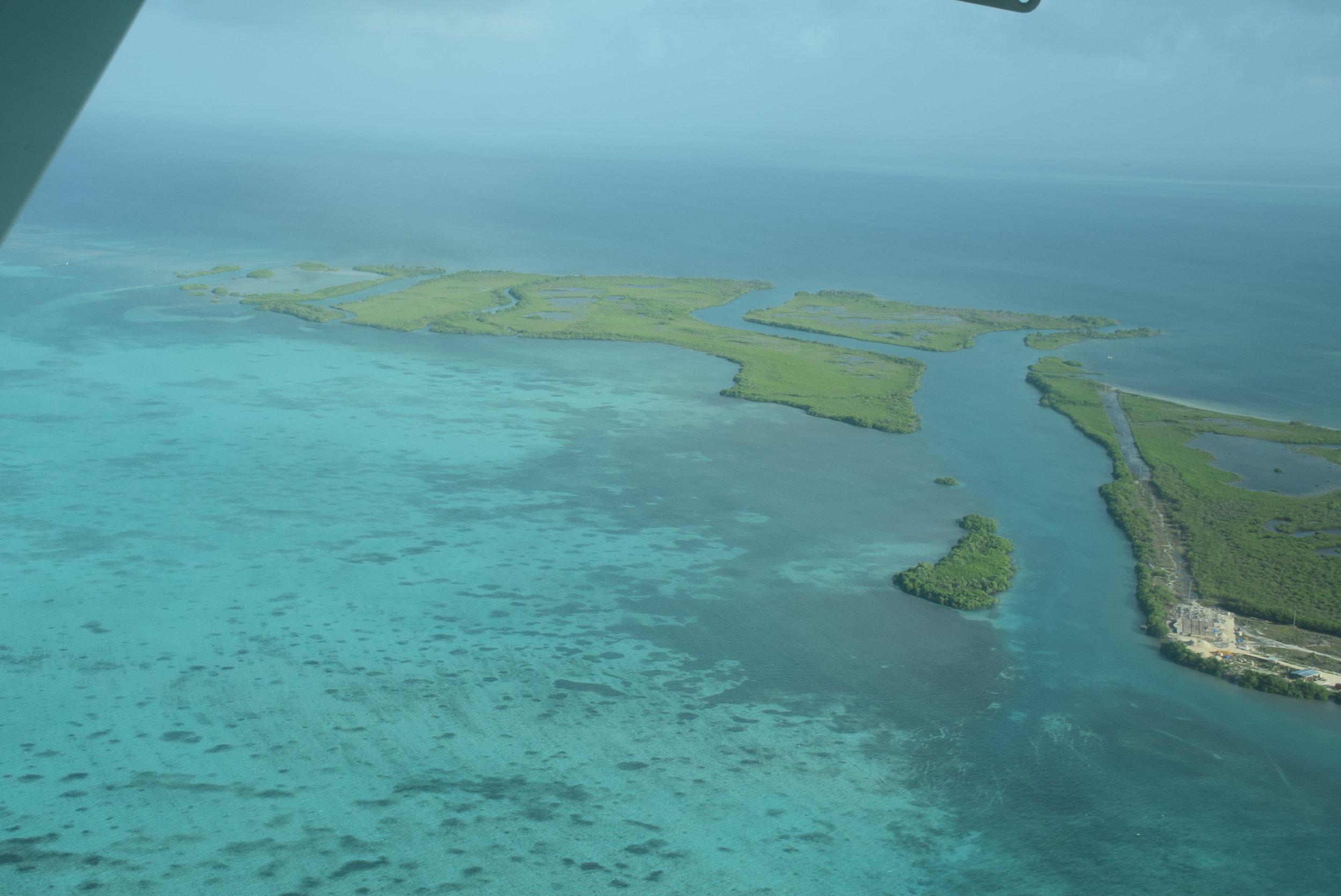 Flying over Belize