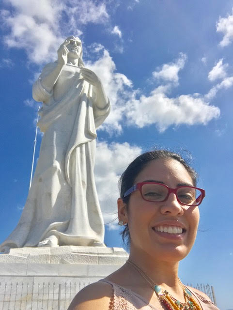 This was pretty cool. Visiting El Cristo de La Habana.