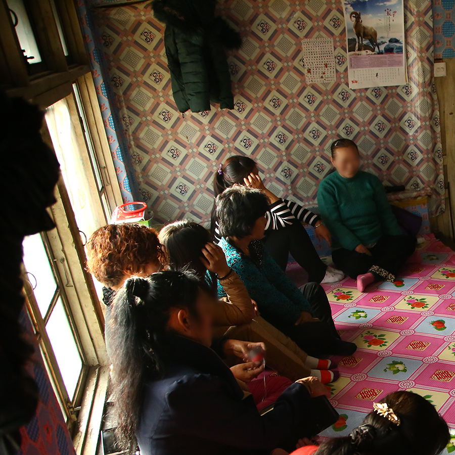 North Korean refugee women at one of their gatherings.
