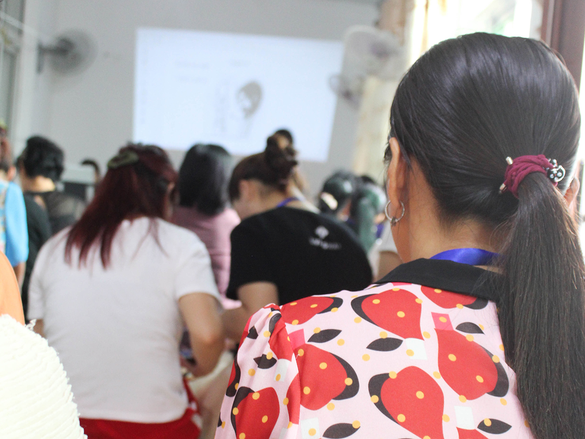 North Korean women gathering for a seminar at our annual retreat for refugees.