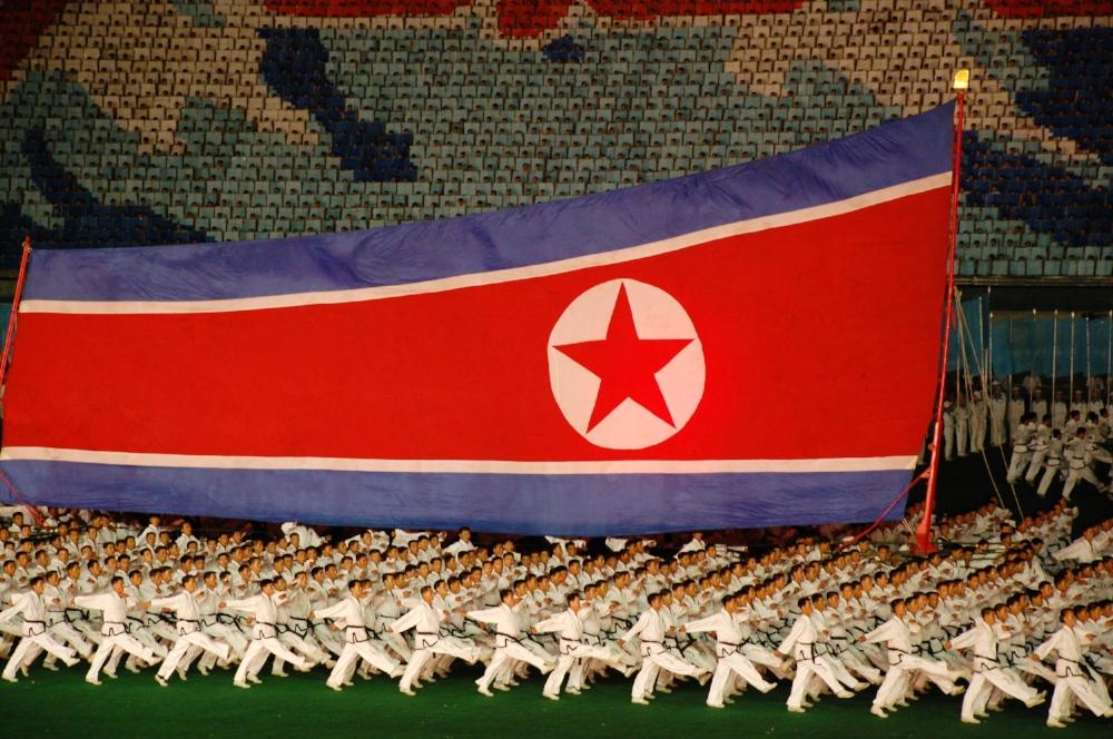 A presentation at North Korea's Mass Games in Pyongyang.