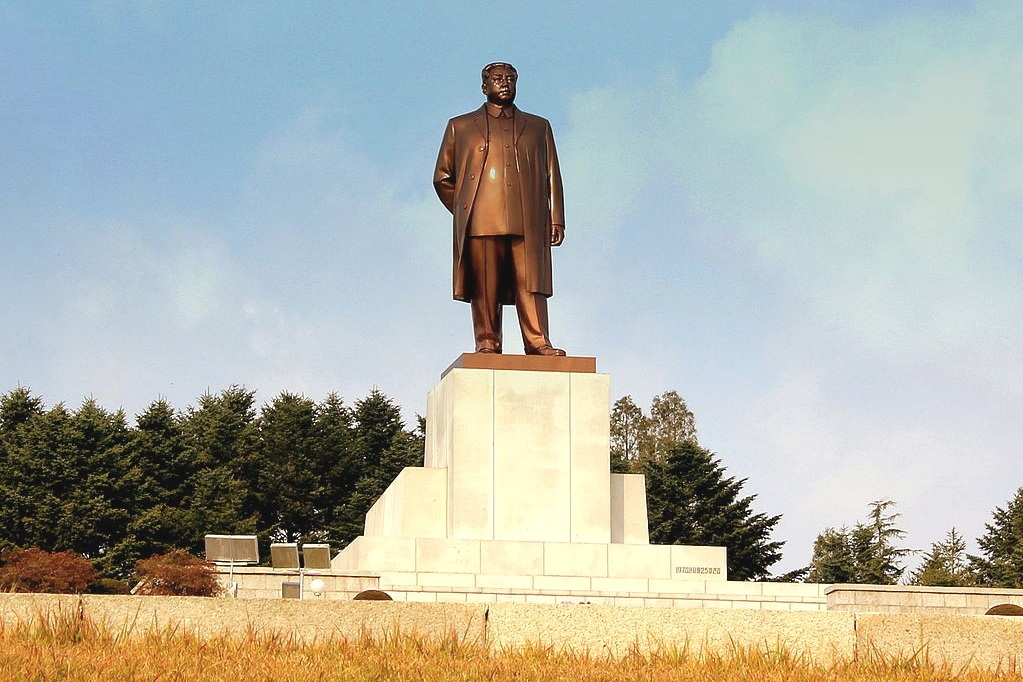 Statue of Kim Il Sung in North Korea.