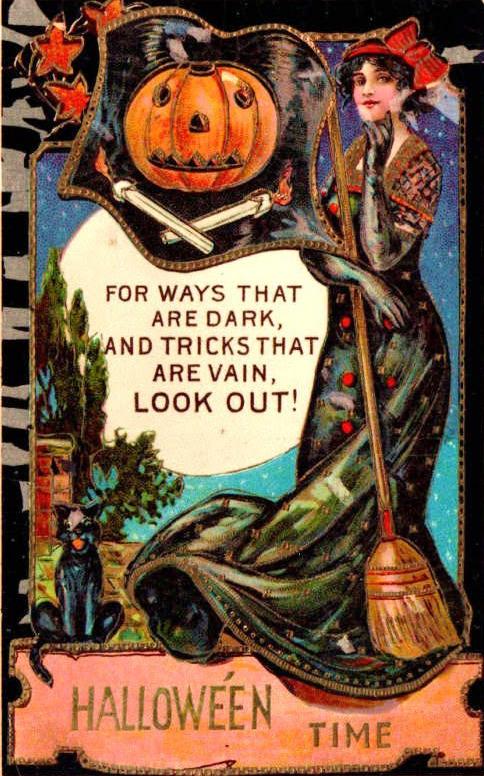 vintagegal :     1900's Halloween postcard