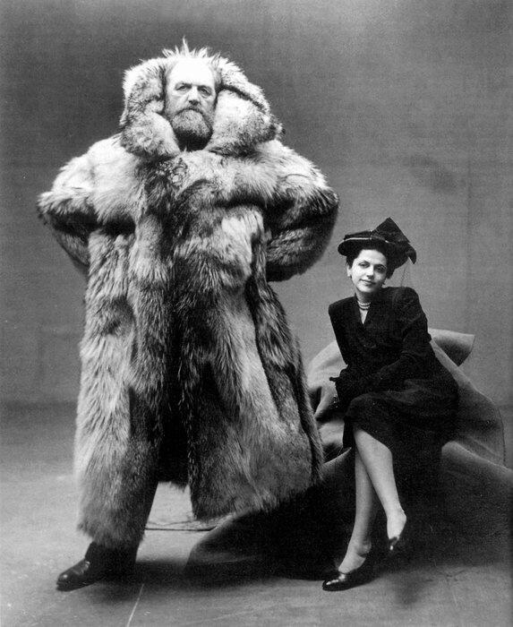 blackpignotebook :      Arctic explorer Peter   Freuchen   and his wife   Dagmar   Gale