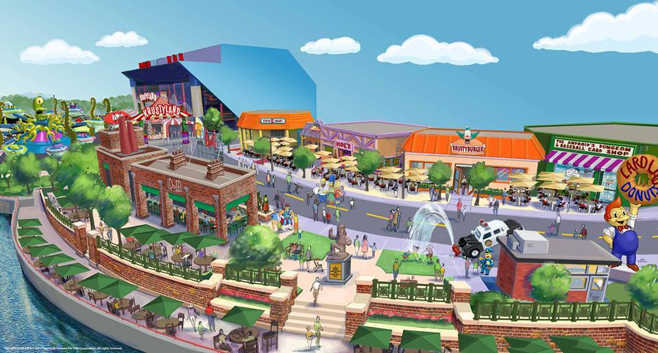 "fyspringfield :      Springfield is coming to Universal Orlando Resort! An all-new Simpsons-themed area will open at Universal Studios Florida this summer – allowing guests to step into the world of   The Simpsons   like never before.    It will be the only place in the world where you can walk the streets of Springfield, grab a Krusty-certified meat sandwich at Krusty Burger, go nuts for donuts at Lard Lad, imbibe at Moe's Tavern and more! Plus there will be Duff Beer – brewed exclusively for Universal Orlando - and a new attraction called Kang & Kodos' Twirl 'n' Hurl that will take you ""foolish humans"" on an intergalactic spin designed to send you into orbit!      Source       I must go to Orlando. I simply must."