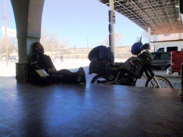Siesta time outside the customs office, Argentina-Bolivia border crossing, April 2010 - cjG