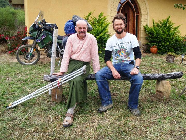 Me with my teacher Da-Dennis, Sukhiwat Dharma Centre, Samaipata, May-June 2010 - cjG.