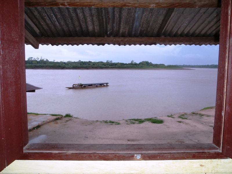 The rain on the hotel tin roof in the amazon, awaiting a cattleboat down to Iquitos. 27 July 2010 - cjG