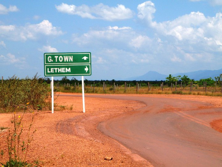 There are your options; north to Georgetown, or turn right around and head back the way you came the Lethem and the Brazilian border - cjG