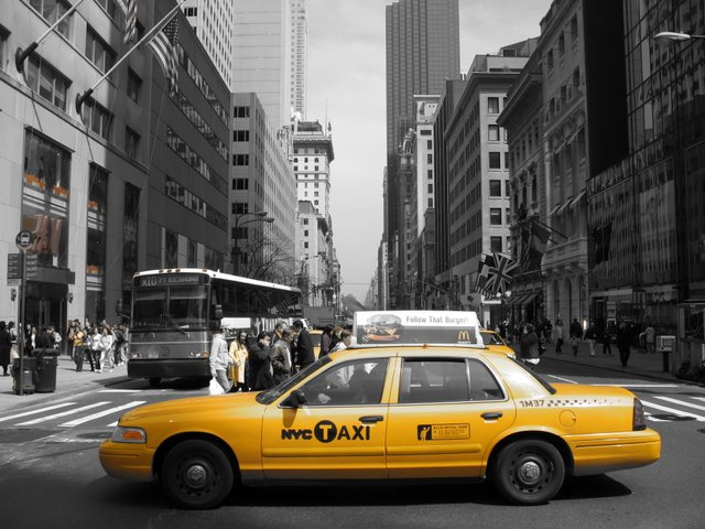 Being Solutions Focused is a Big Yellow Taxi. Where to?! Image with gratitude.