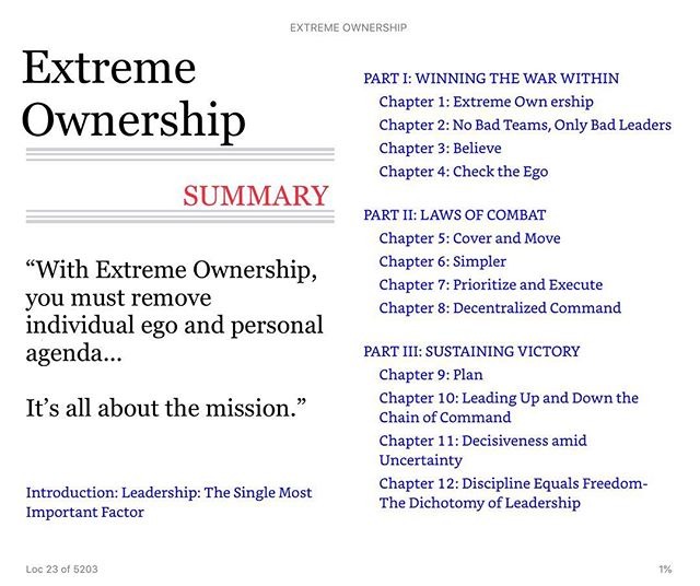 Extreme Ownership, one of the best tactical #leadership books ever written 👮🏻‍♂️👩🏻‍✈️👮🏻‍♀️👨🏻‍✈️🚀