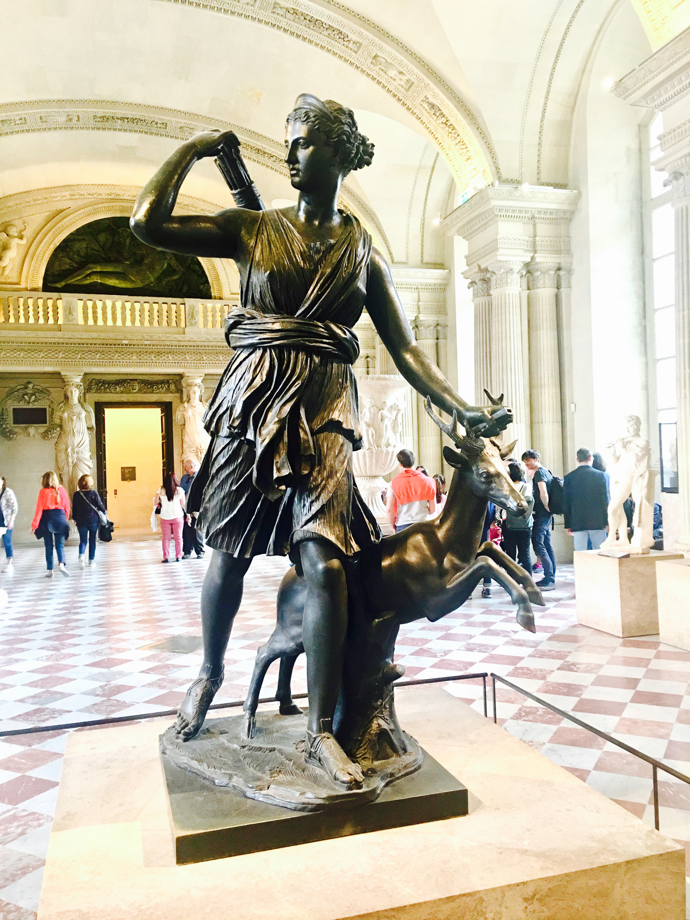 Artemis and deer spirit at the Louvre