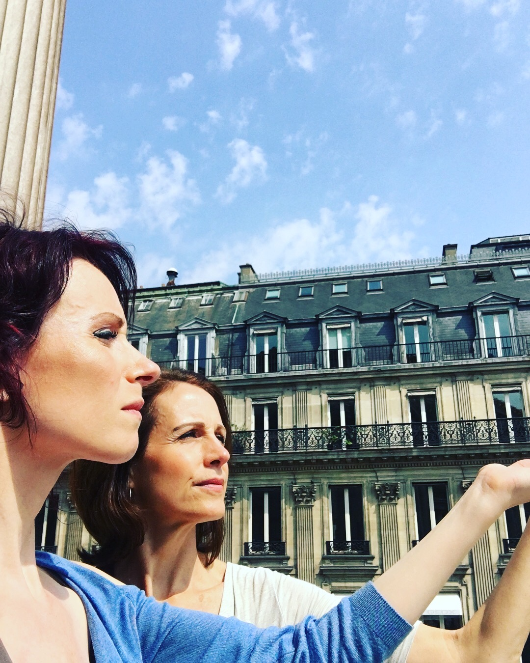 Looking out over our royal subjects
