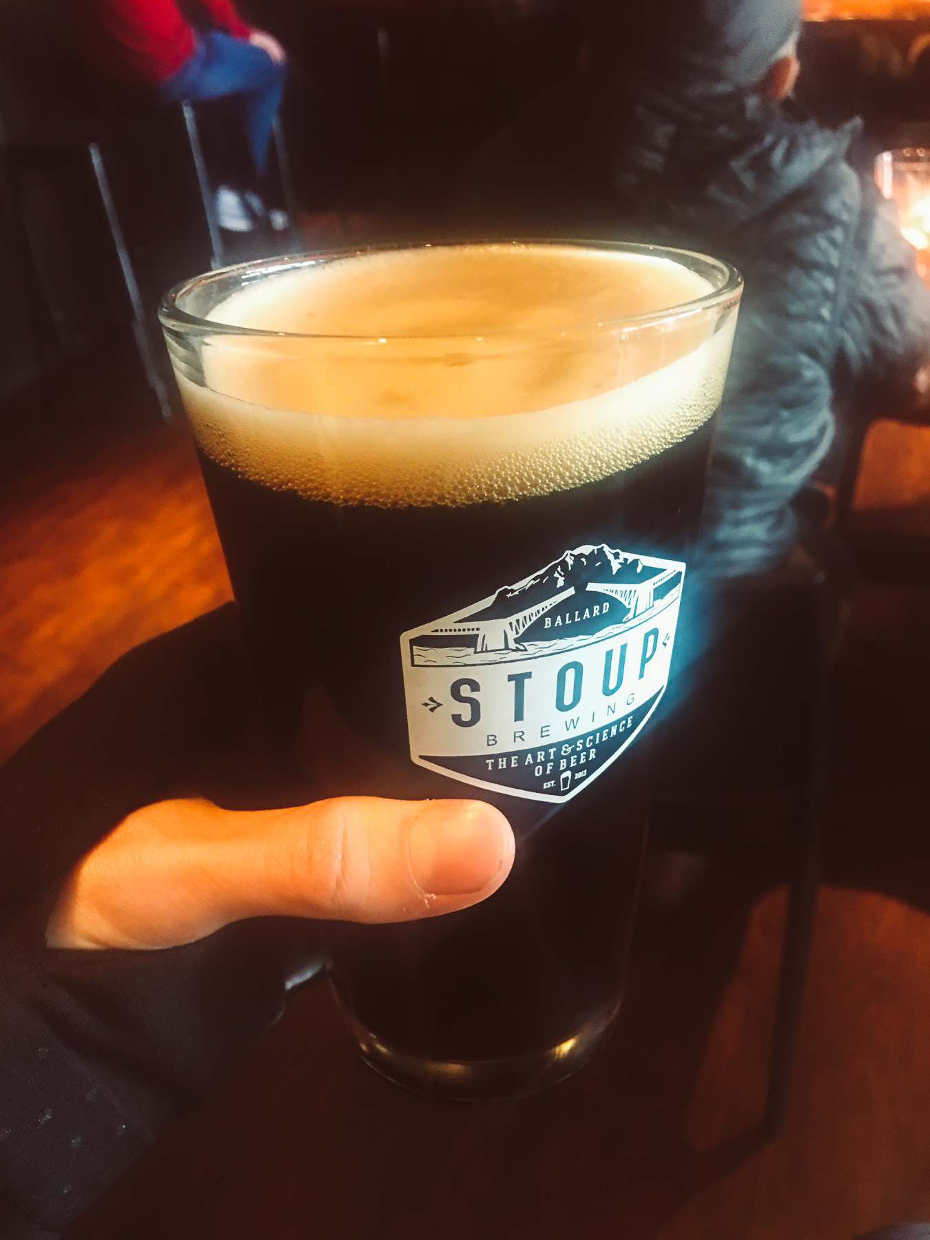 The Stoup Robust Porter we rewarded our weary bodies with.
