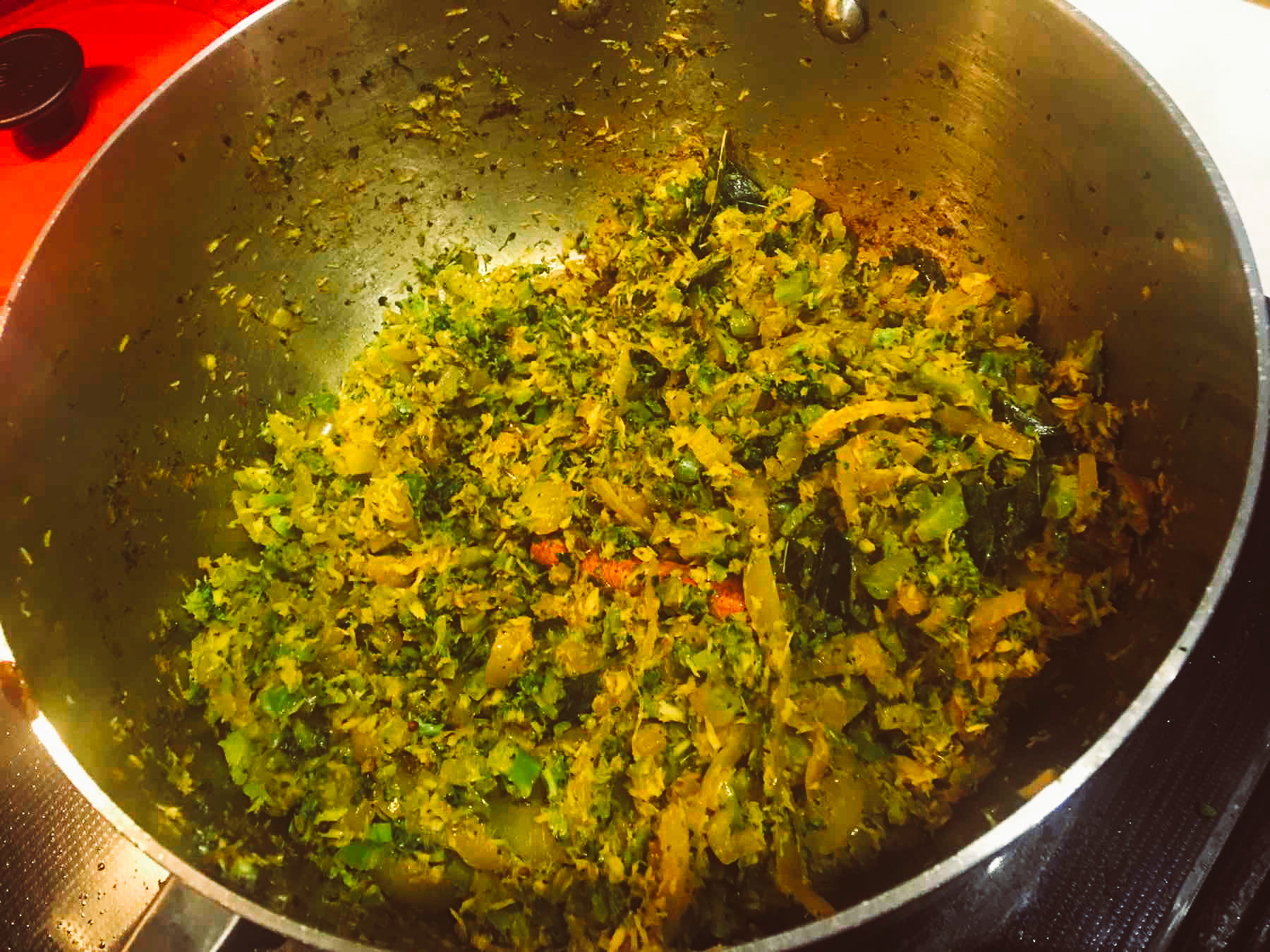 Broccoli Varai in the pan