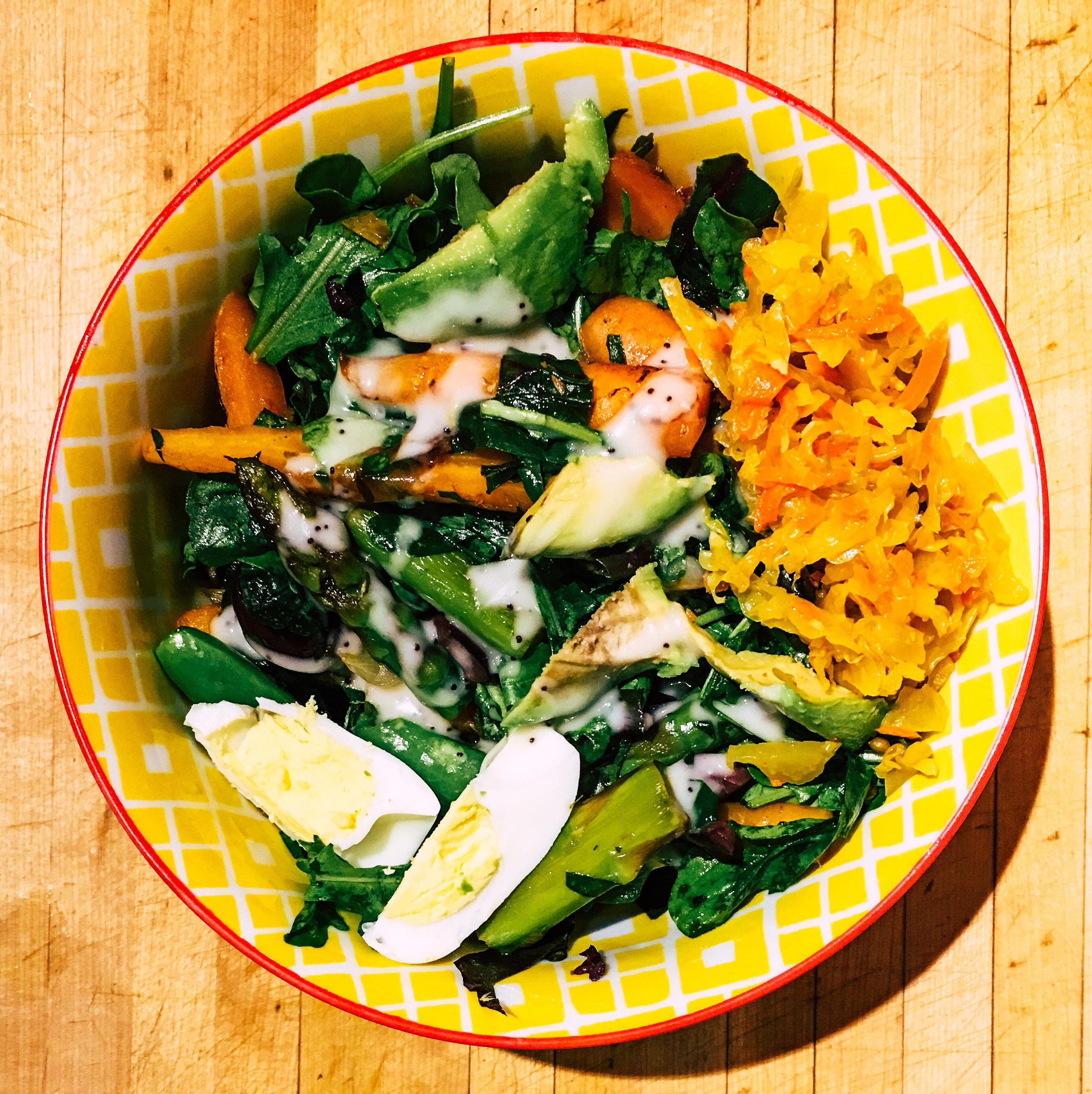 spring warm salad