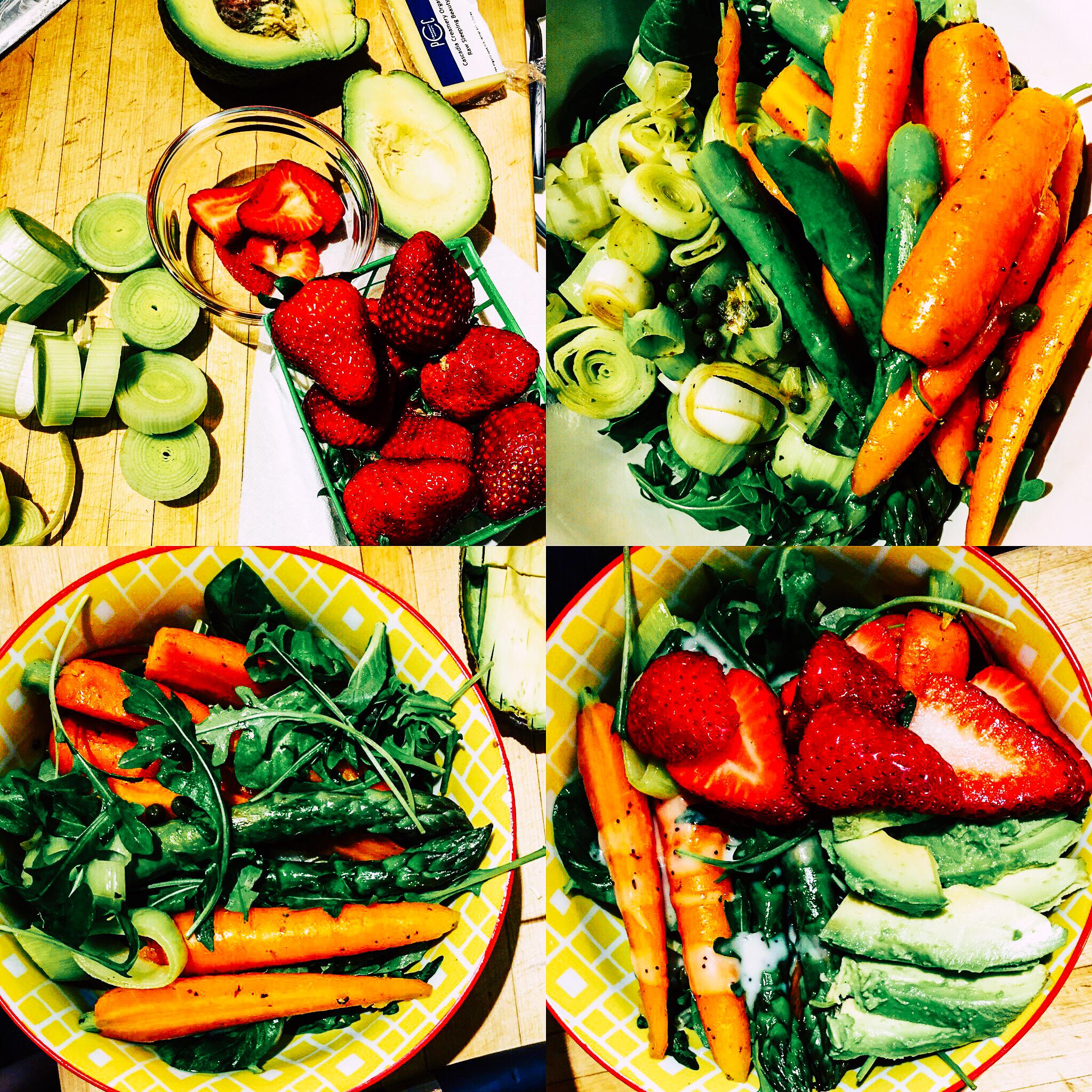 spring vegetable fruit provencal french bowl salad