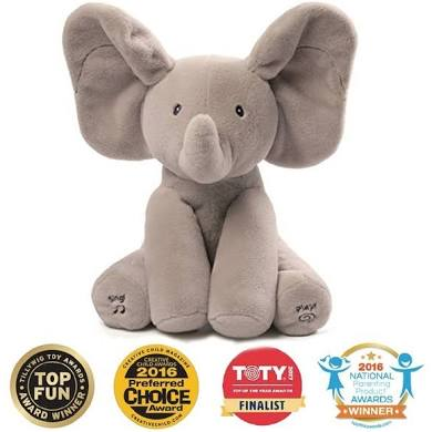 Flappy the Elephant from Gund Sings and Plays with your child. $39,99