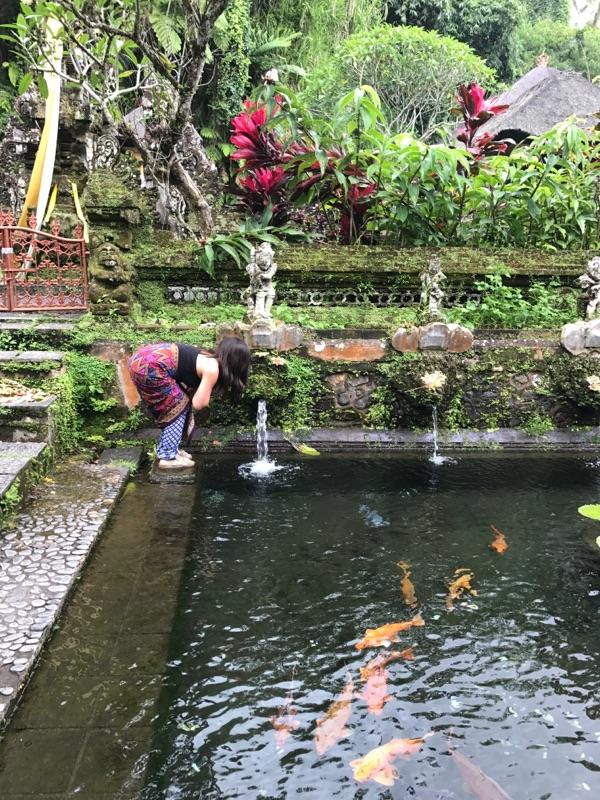 Cleansing in a temple's healing waters