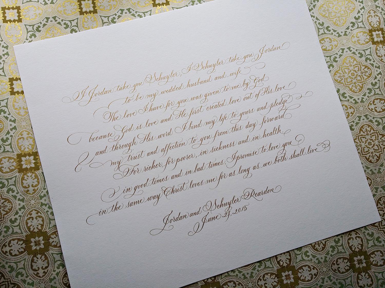 Grace Edmands Calligraphy - Portfolio 4