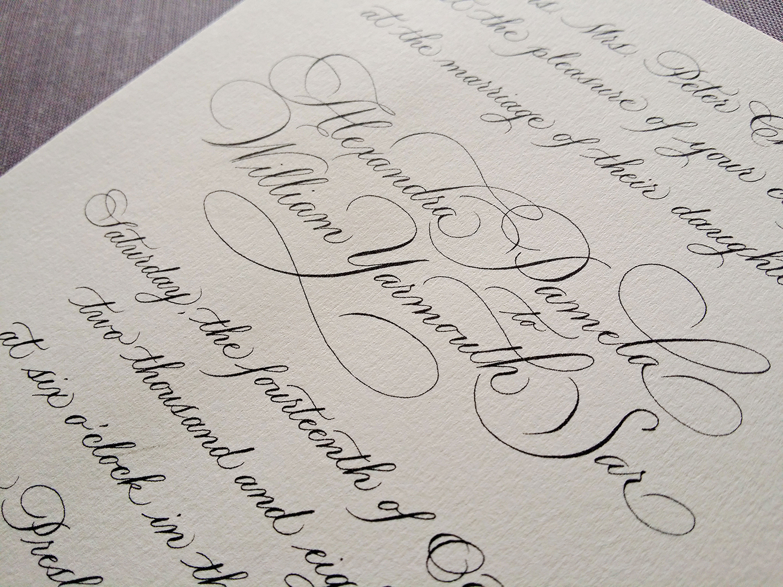 Grace Edmands Calligraphy - Portfolio 9