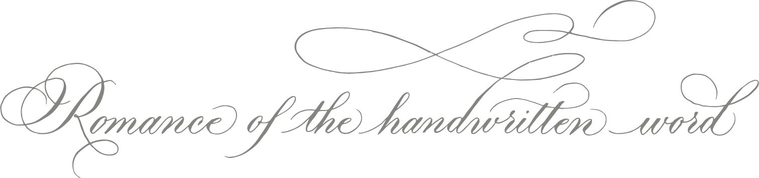 Grace Edmands Calligraphy - Romance of the written word