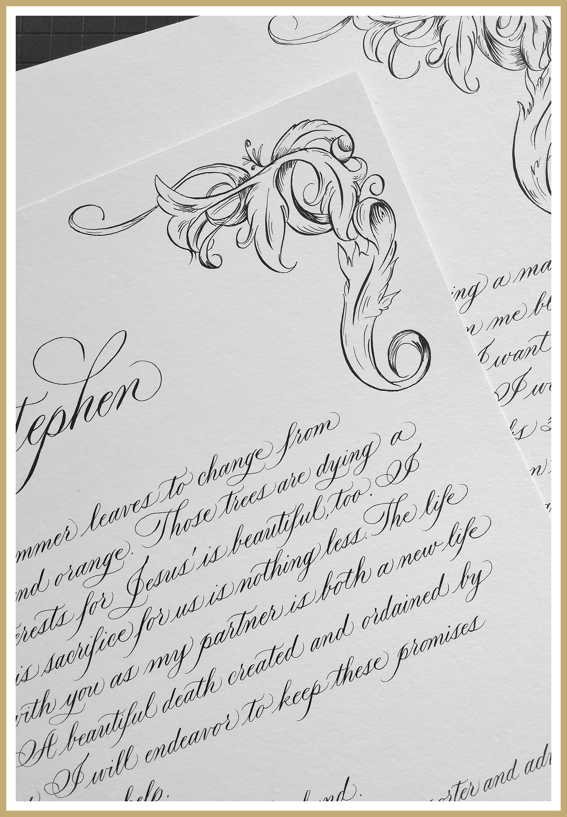 Grace Edmands Calligraphy - Services