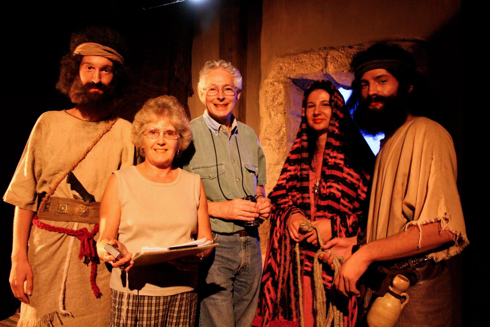 Ragna and Christopher Gornold-Smith with actors in costumes sewn by Ragna.