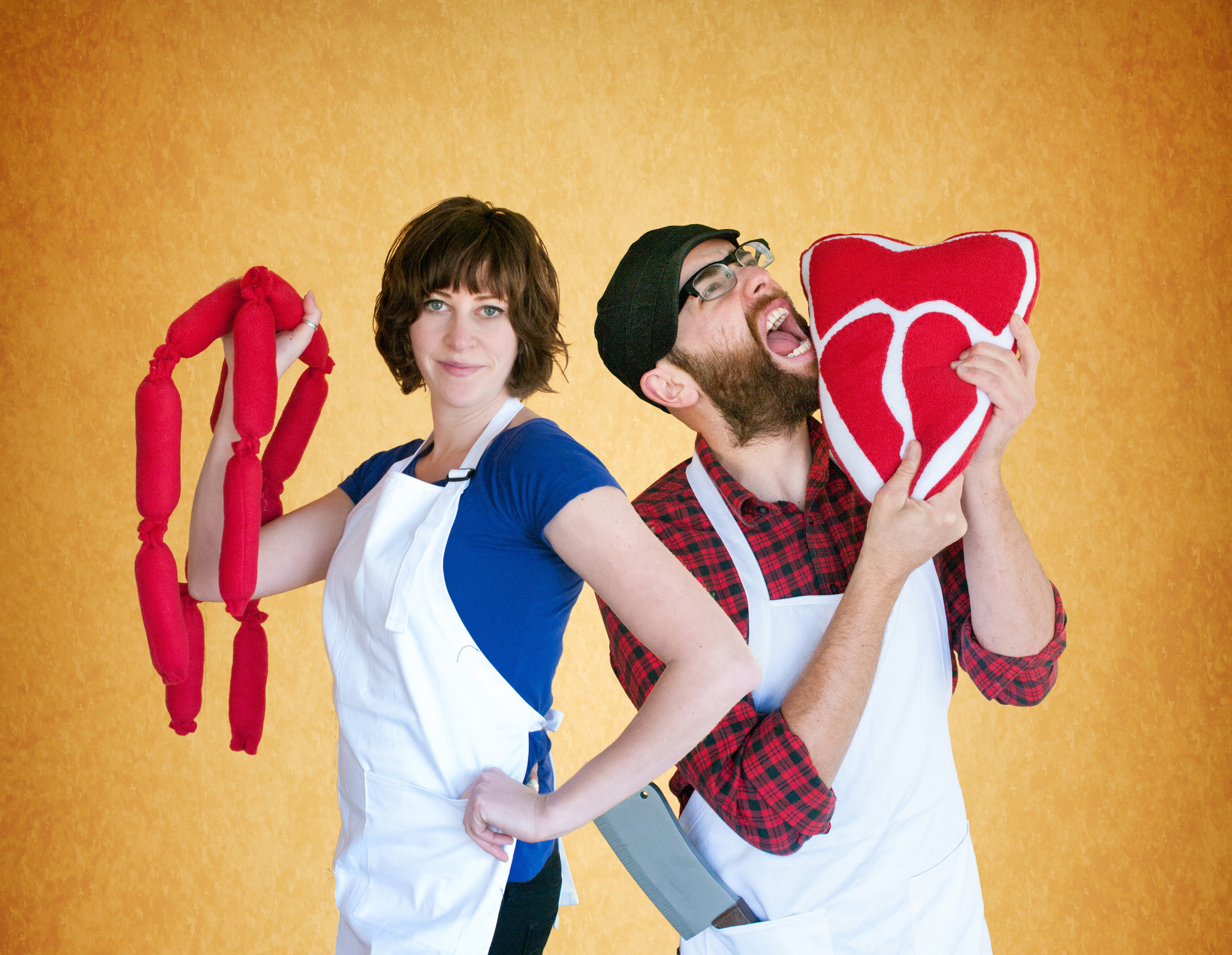 ▲  No Evil Foods  的创始人 Sadrah Schadel 和 Mike Woliansky(图片来源: No Evil Foods  官网)