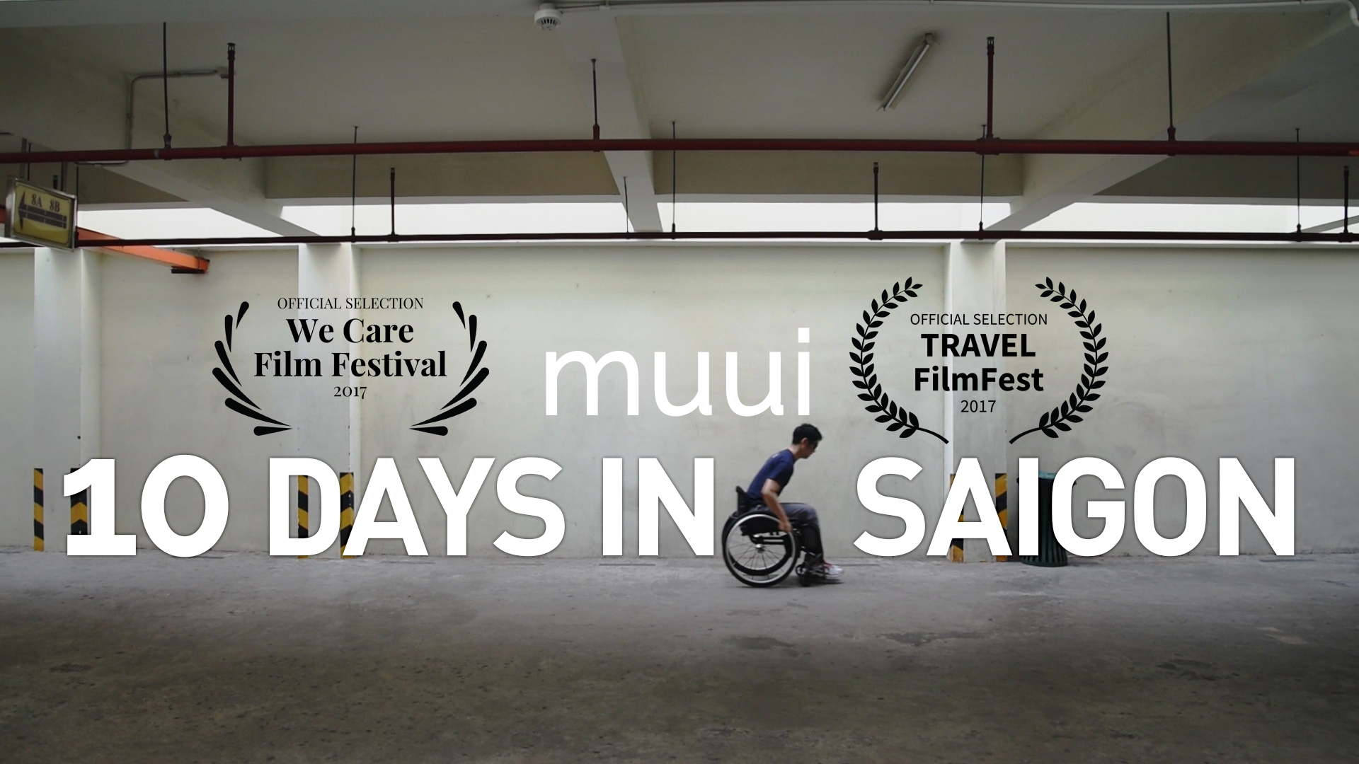 Promotional image for the  10 Days in Saigon  webseries displaying its film festival selections.