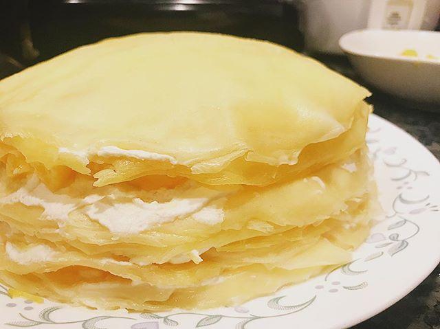 Homemade mango mille crepe cake, Yummy!#thinkvastly #fertilizer #fulvicacid #sustainable 👉learn more Vastly.com @thinkvastly #linkinbio