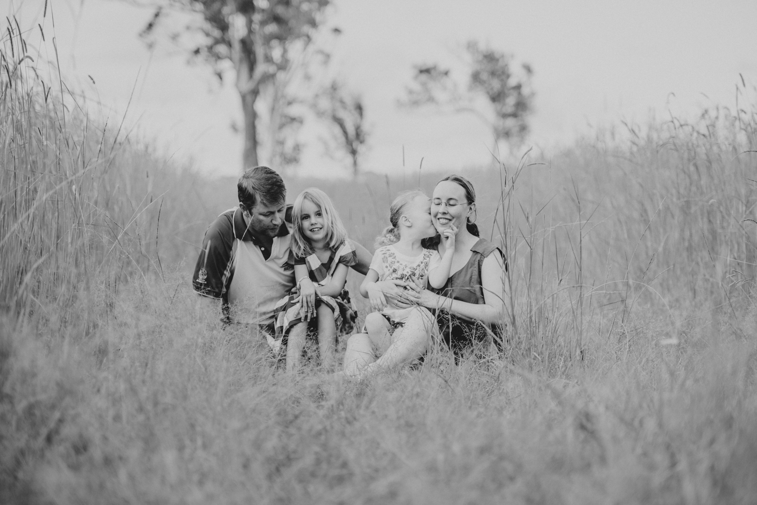 Beautiful black and white family portrait | Sirromet Winery | Lightsmith Images