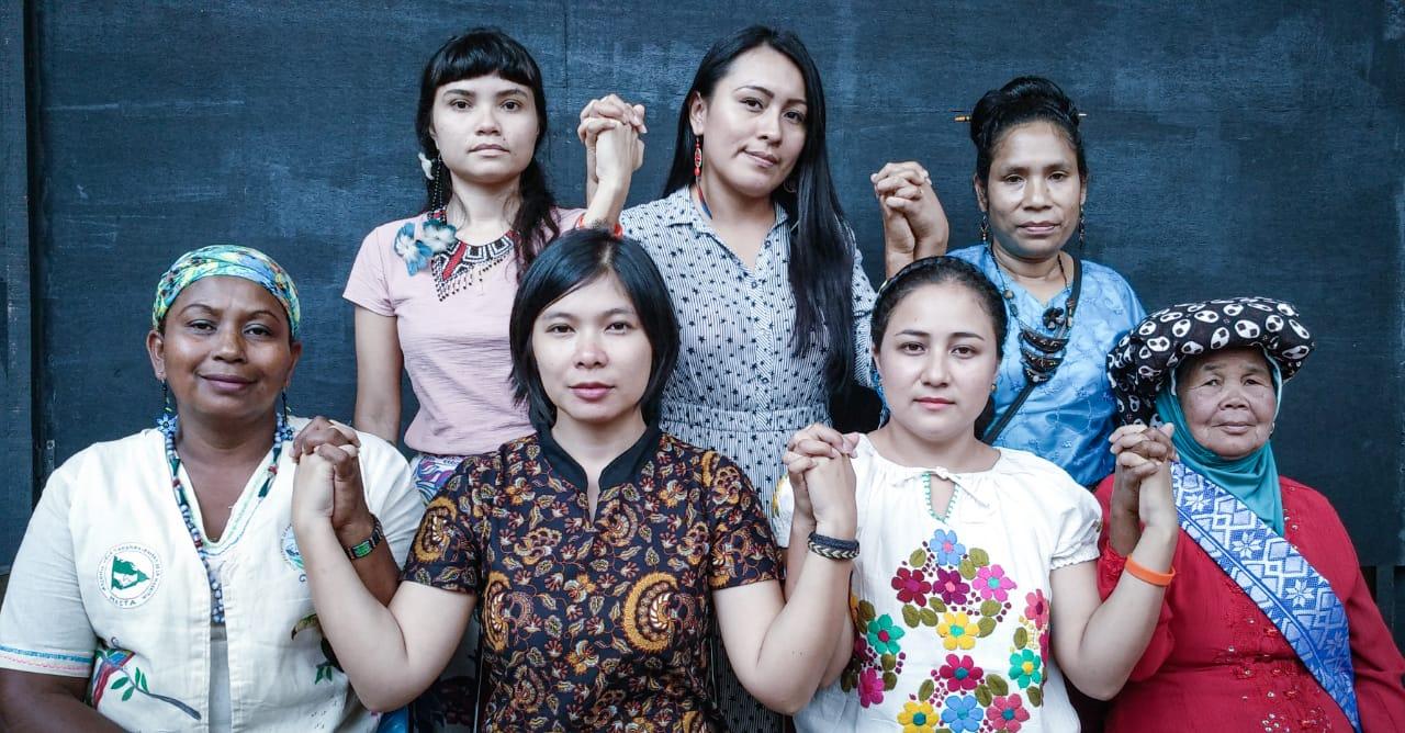 """"""" Cada vez damos un paso más hacia adelante, hacia la unión, hacia la fuerza, hacia la lucha en acciones comunes para la defensa de los derechos indígenas, de nuestros territorios y la equidad de género»."""