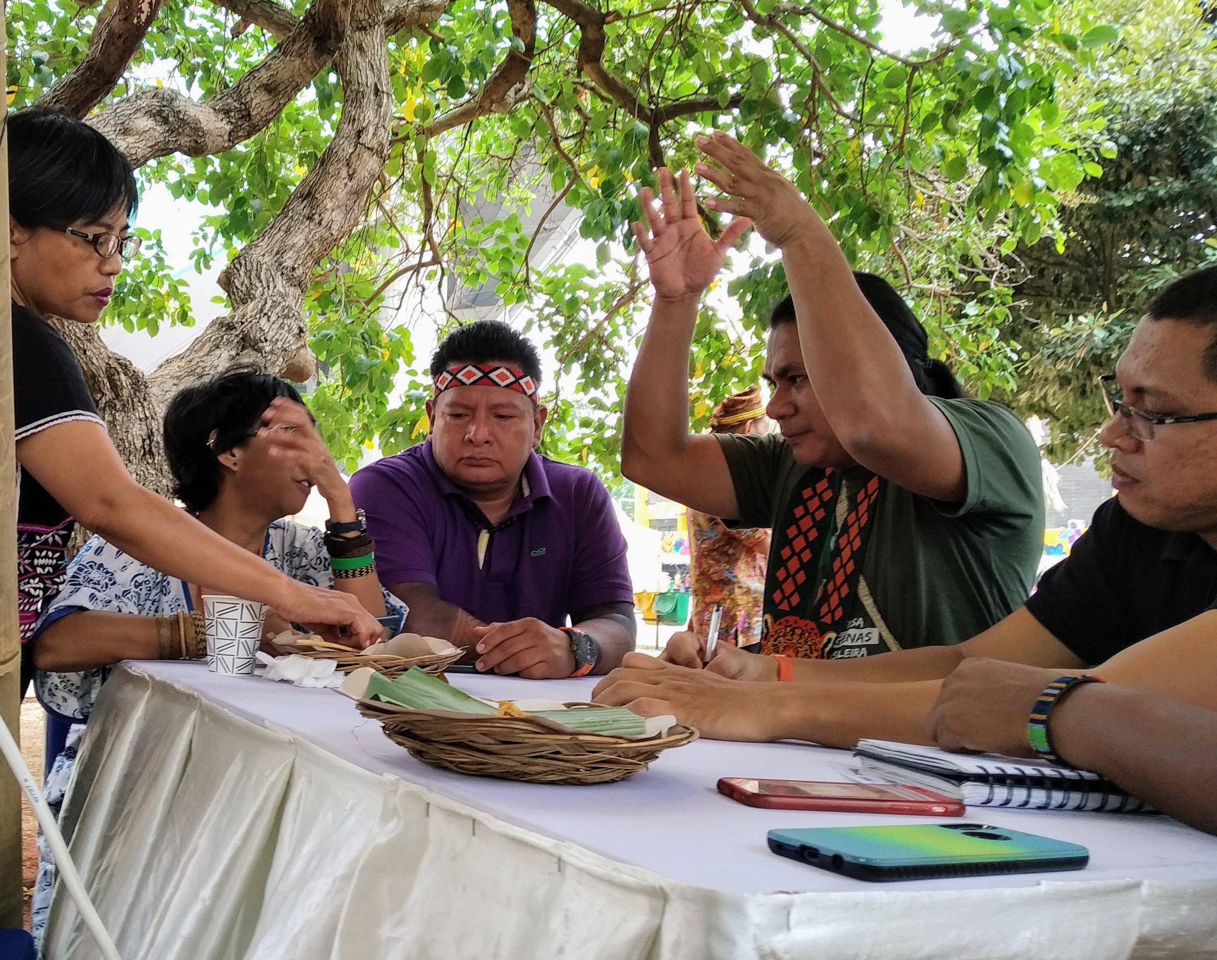 Reunión de planificación conjunta de las organizaciones que son parte de la Alianza Global de Comunidades Territoriales.