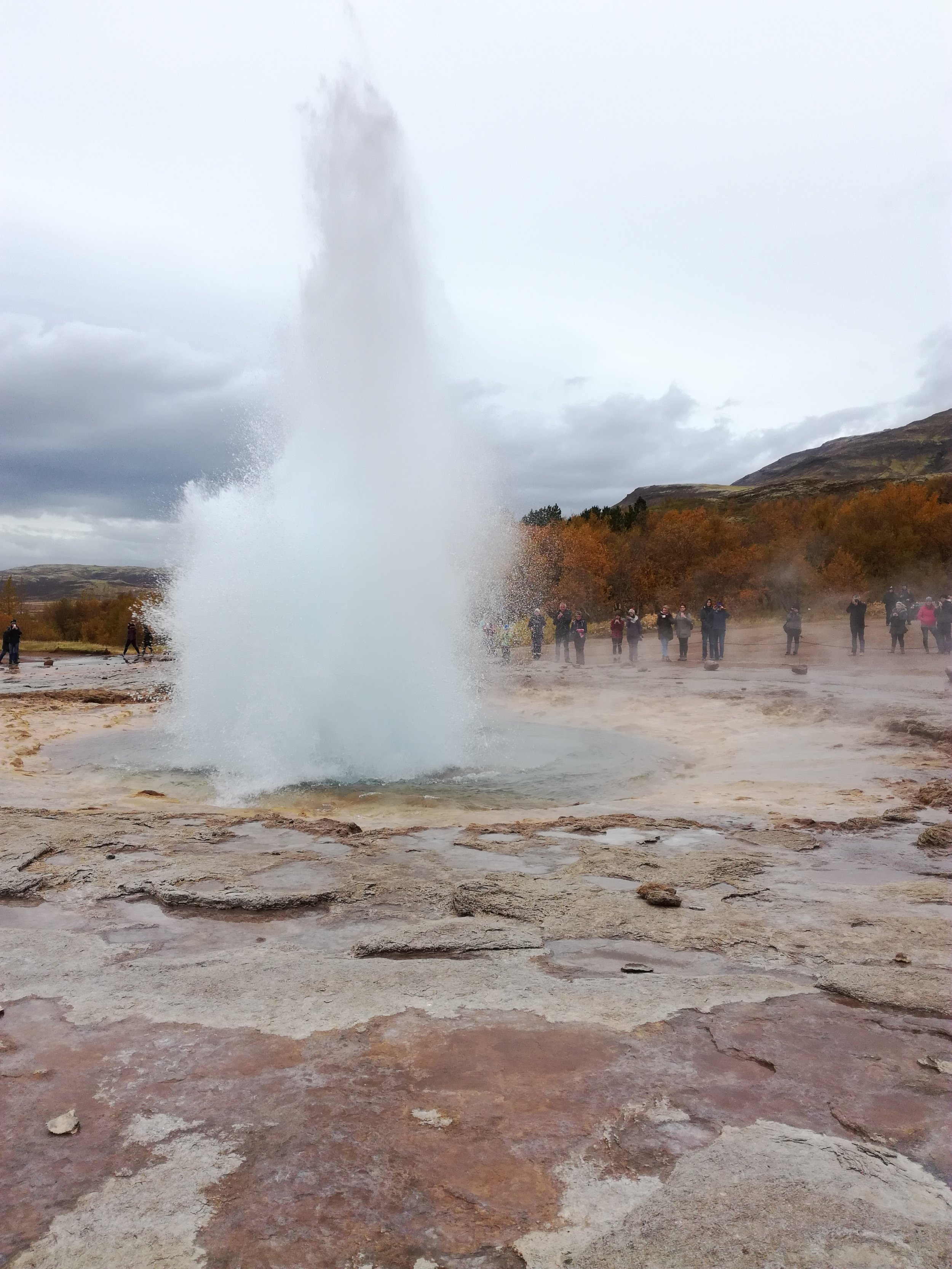 Strokkur Geyser at Haukadalur geothermal area