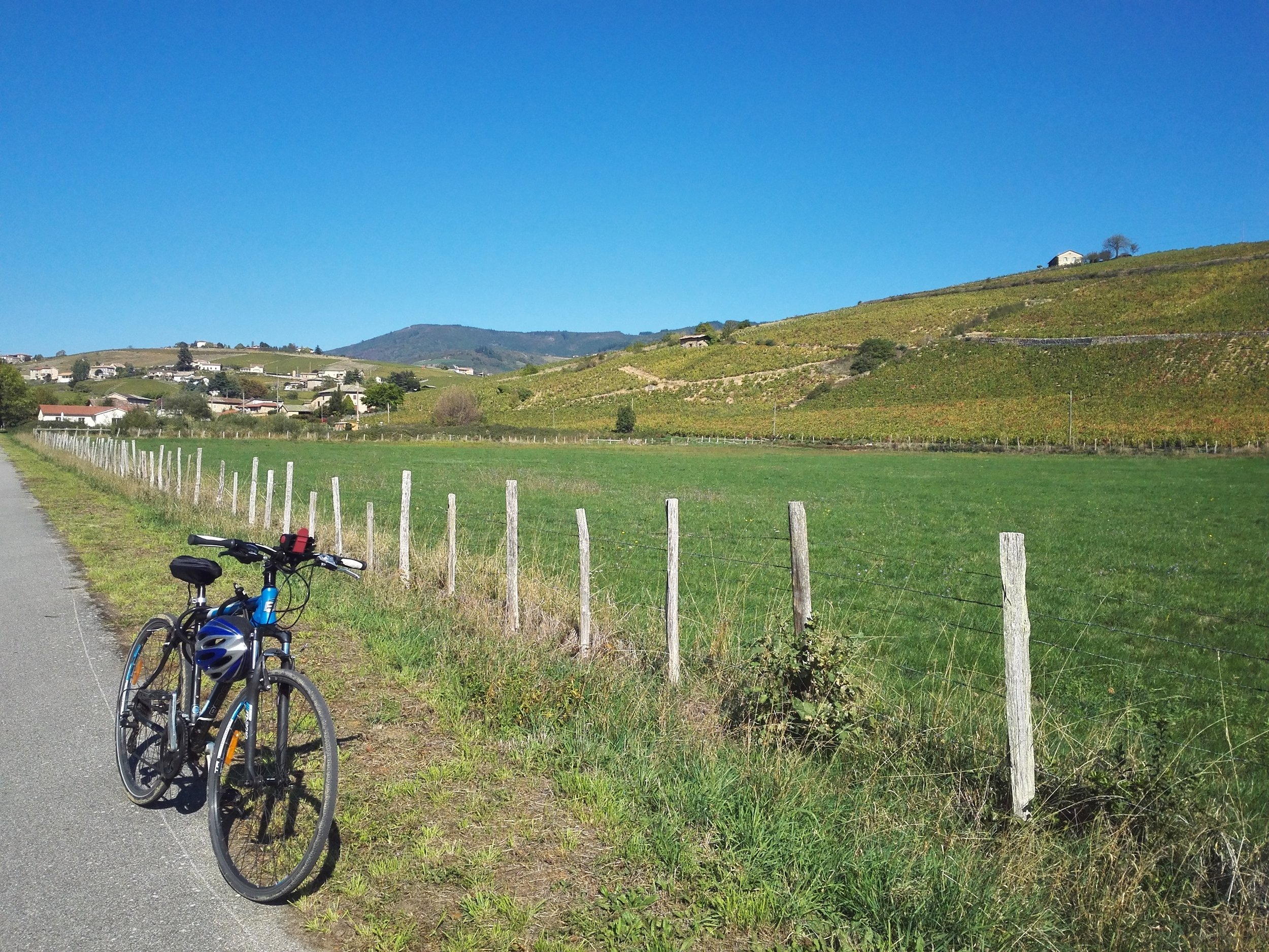 Cycling in the Beaujolais