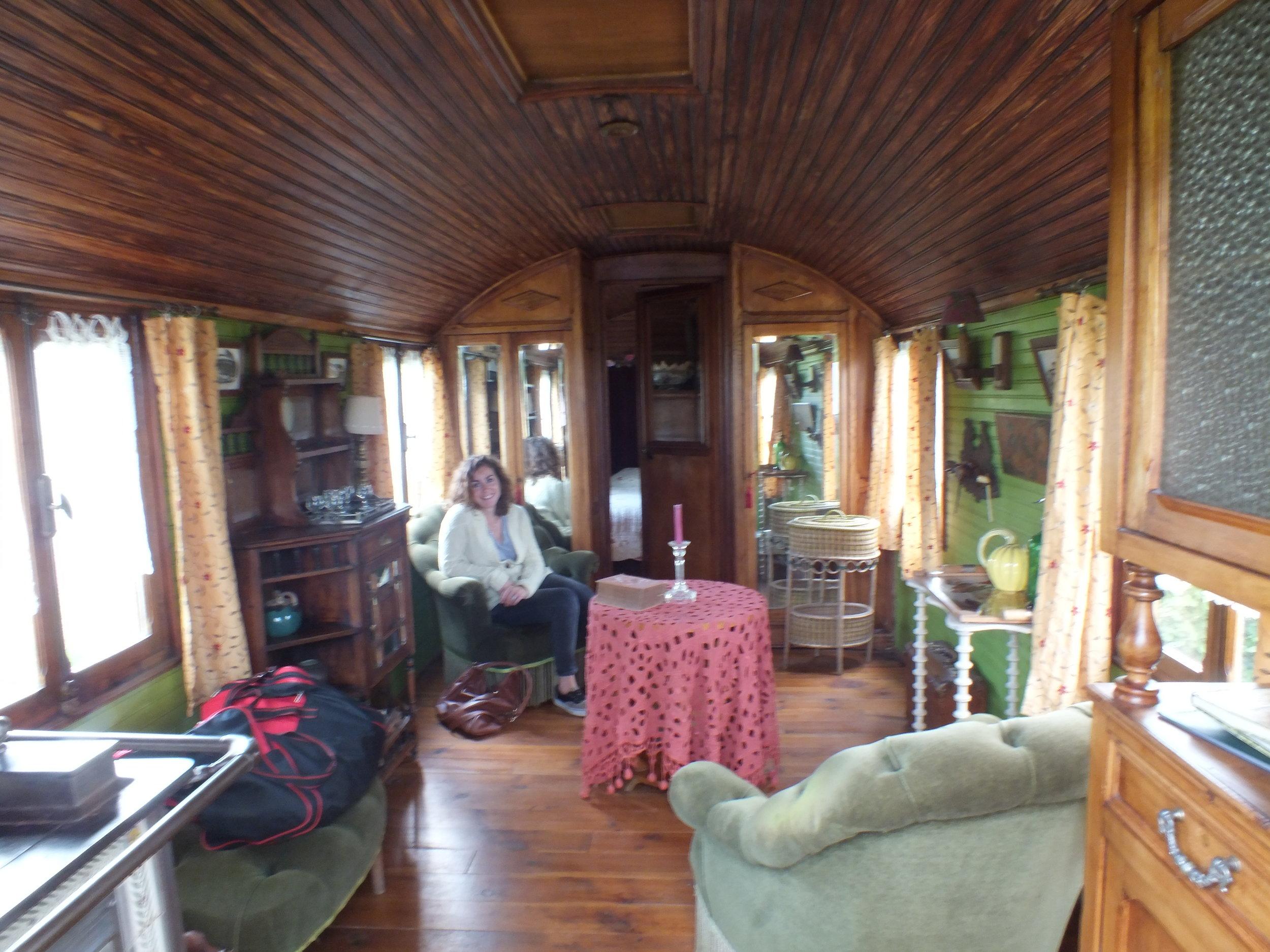 Inside the  Roulotte des Manèges